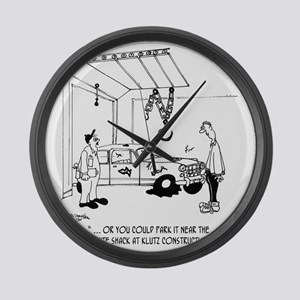 4357_auto_cartoon Large Wall Clock
