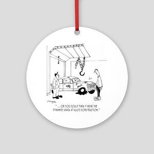 4357_auto_cartoon Round Ornament