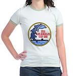 USS LOS ANGELES Jr. Ringer T-Shirt