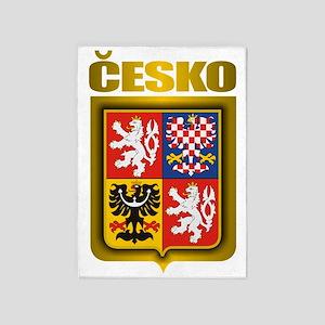 Czech Steel (shirt) 5'x7'Area Rug