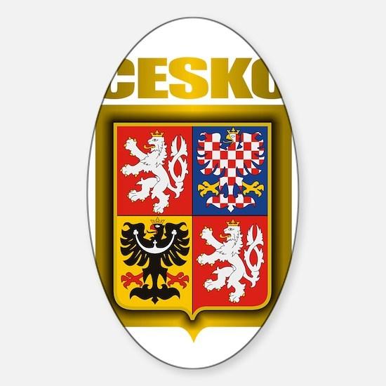 Czech Steel (shirt) Sticker (Oval)