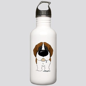 StBernardShirtFront Stainless Water Bottle 1.0L