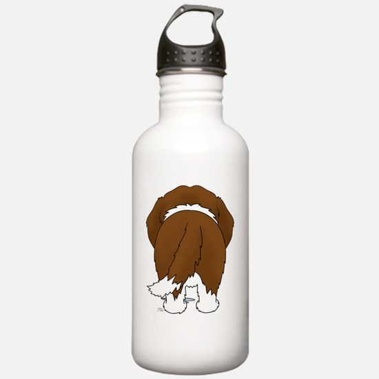 StBernardShirtBack Water Bottle