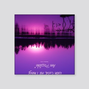 "Manzanita Pink With God Rec Square Sticker 3"" x 3"""