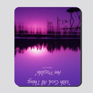 Manzanita Pink With God Rec Keychain Mousepad