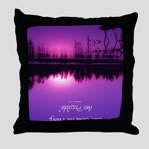 Manzanita Pink With God Rec Keychain Throw Pillow