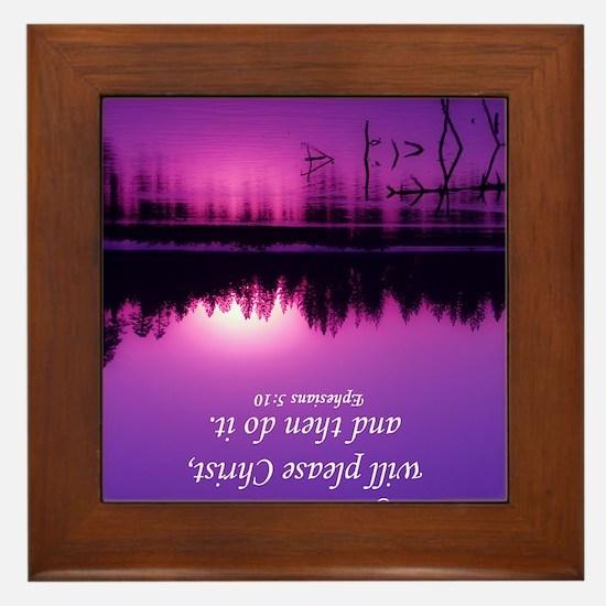 Manzanita Pink Correct Eph 5-10 Kaycha Framed Tile