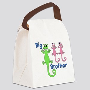 Big Brother of Twin Girls Canvas Lunch Bag