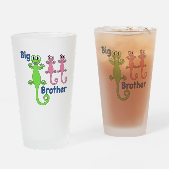 Big Brother of Twin Girls Drinking Glass