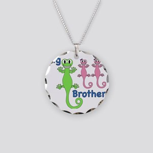 Big Brother of Twin Girls Necklace Circle Charm