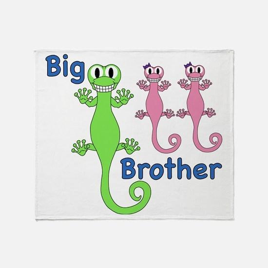 Big Brother of Twin Girls Throw Blanket