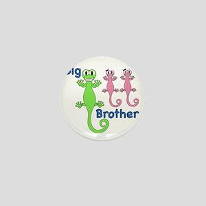 Big Brother of Twin Girls Mini Button