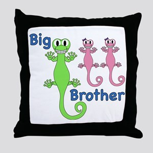 Big Brother of Twin Girls Throw Pillow