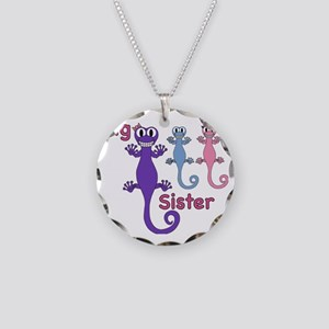 Big Sister of Boy/Girl Twins Necklace Circle Charm