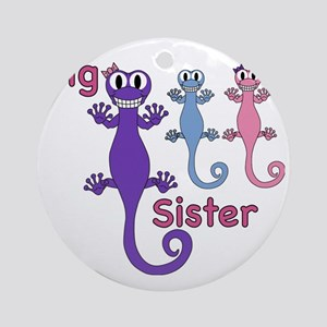 Big Sister of Boy/Girl Twins Round Ornament
