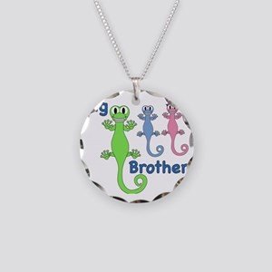 Big Brother of Boy/Girl Twin Necklace Circle Charm