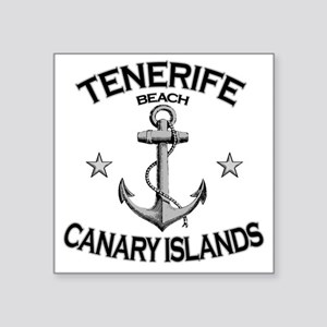 "TENERIFE BEACH CANARY ISLAN Square Sticker 3"" x 3"""