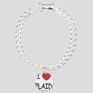 PLAID Charm Bracelet, One Charm