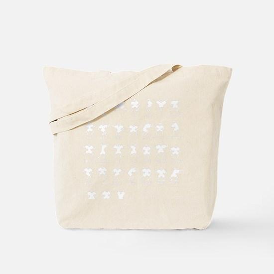 Haka Wht 16x16 Tote Bag