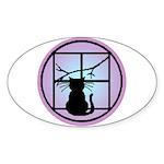 Moonlight Emblem Oval Sticker