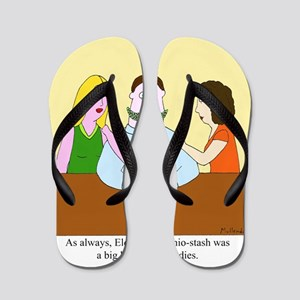 Pistachio-Stash Flip Flops
