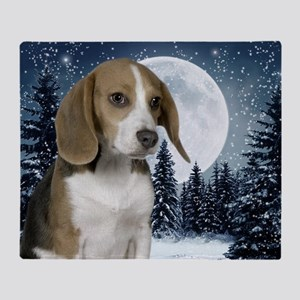 BeagleWinterMousepad Throw Blanket