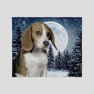 BeagleWinterMousepad Throw Blanket
