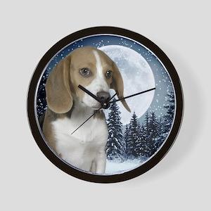 BeagleWinterMousepad Wall Clock