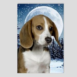 BeagleWinterJournal Postcards (Package of 8)