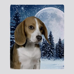 BeagleWinteriPad Throw Blanket