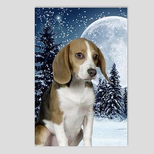 BeagleWinterKindle Postcards (Package of 8)