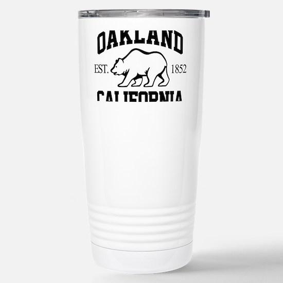 oak01 Stainless Steel Travel Mug