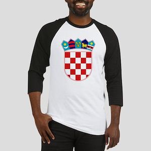Croatia Hrvatska Emblem Baseball Jersey