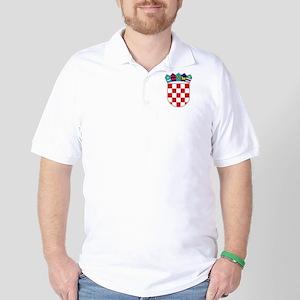 Croatia Hrvatska Emblem Golf Shirt