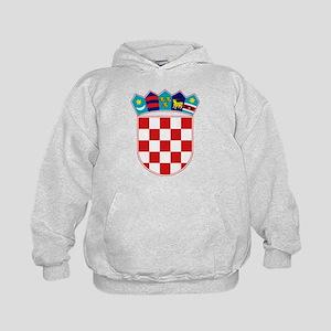 Croatia Hrvatska Emblem Kids Hoodie