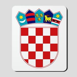 Croatia Hrvatska Emblem Mousepad