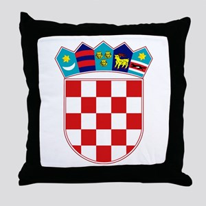 Croatia Hrvatska Emblem Throw Pillow