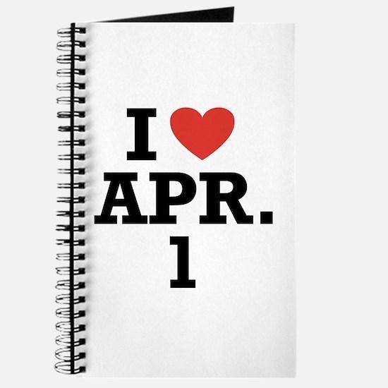 I Heart April 1 Journal