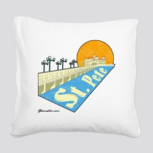 GSStPete01Large Square Canvas Pillow