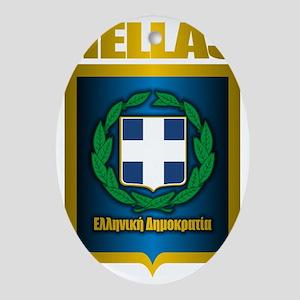 Hellas Oval Ornament