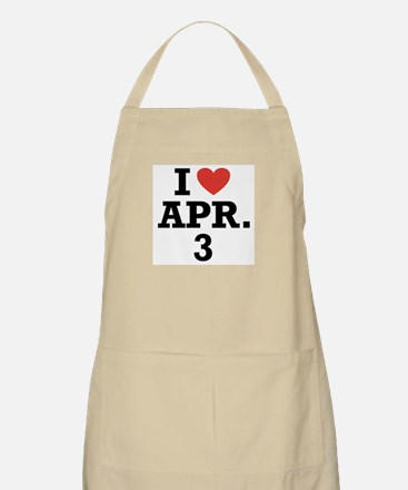I Heart April 3 BBQ Apron