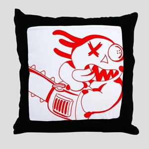 Agnew-chainsaw RED Throw Pillow