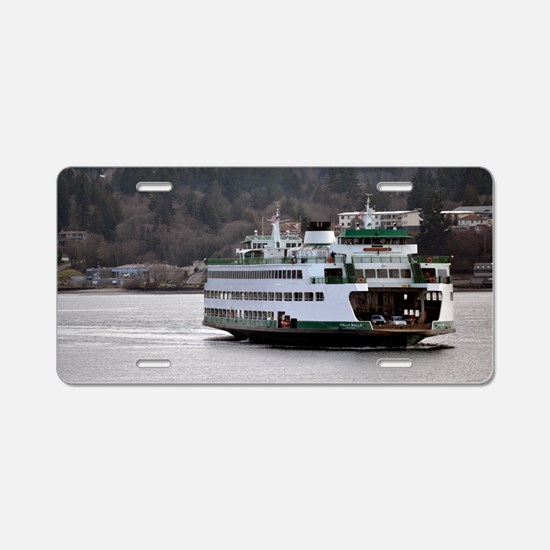 Arrival on Water Aluminum License Plate