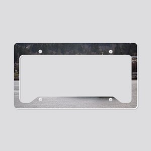 Arrival on Water License Plate Holder