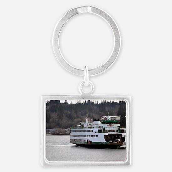 Arrival on Water Landscape Keychain