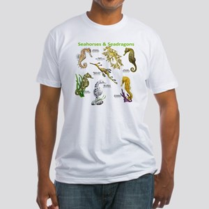 Seahorses Seadragons Fitted T-Shirt