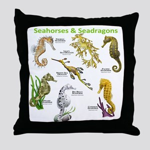 Seahorses Seadragons Throw Pillow