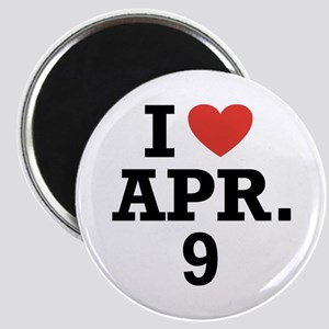 I Heart April 9 Magnet