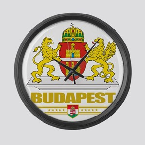 Budapest COA (Flag 10) Large Wall Clock
