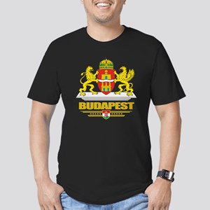 Budapest COA (Flag 10) Men's Fitted T-Shirt (dark)